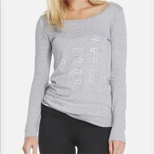 Fabletics Gray Long Sleeve Top